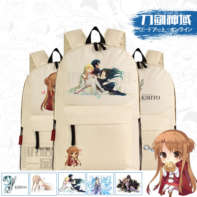 Harajuku Anime Sword Art Online SAO Asuna Kirito Printing Canvas Mochila Backpacks for Teenage Girls School Bags for Teenagers<br><br>Aliexpress