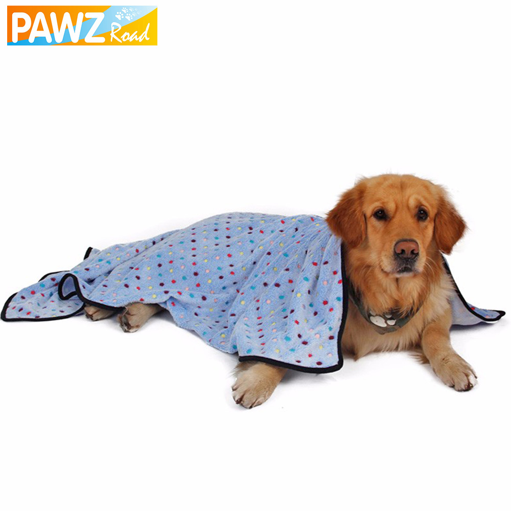 Pawz Road Large Dog Blanket Towel For Dogs Colorful Dot Blanket For Pets Puppy Cat Mat Lovely Kitten Bath Towel Quilt(China (Mainland))