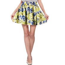 Buy Vintage Skirts Womens Retro Pleated Floral Chiffon Mini Short Skirt High Waist Mini Skirt New Sale for $2.84 in AliExpress store