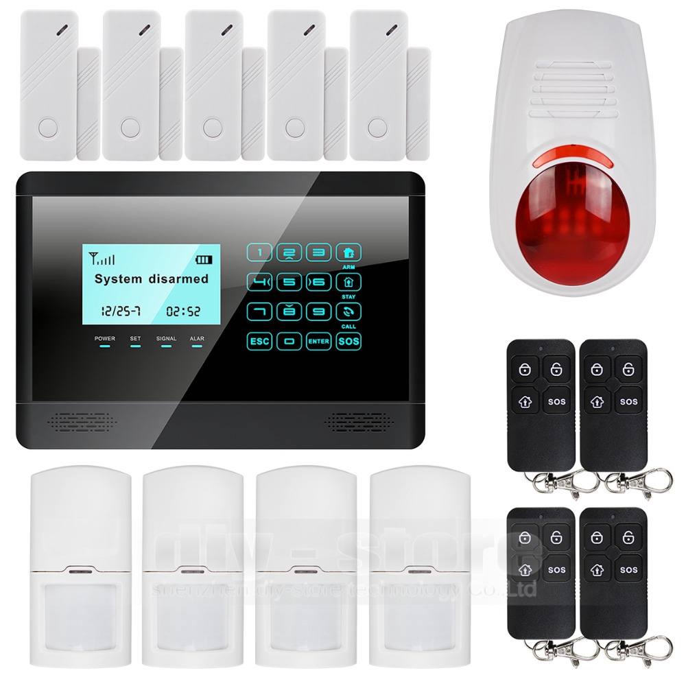 Wireless and wired GSM alarm system, touch screen, flash sensor, SMS alert, 850 / 900 / 1800 / 1900MHz(China (Mainland))