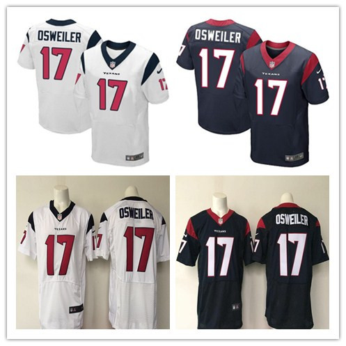 2016 Men Houston Texans #17 Brock Osweiler white red navy 100% stitche embroideried Logo, free shipping(China (Mainland))