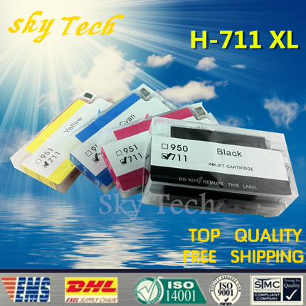 With show volume ARC chips , Full Dye ink refillable cartridge  suit  for hp711 hp711XL. suit for HP T120  T520  .