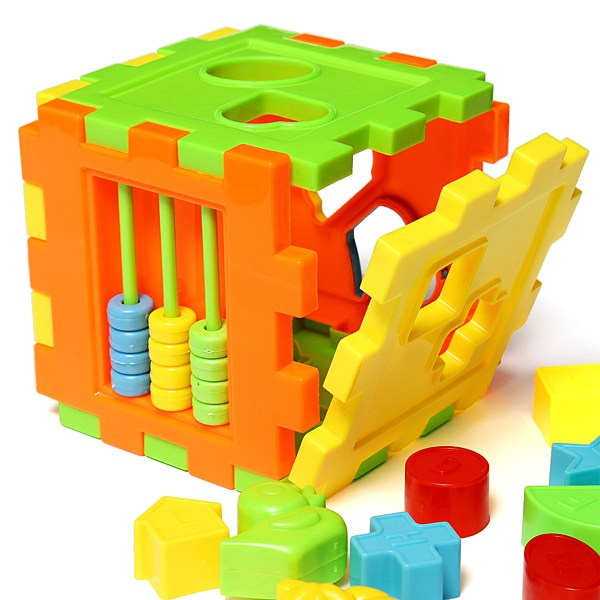 Children Colorful 3D Block Matching Educational Baby Toy Blocks Geometry Shape Intelligence Training Studing Box For Kids(China (Mainland))
