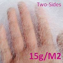 2 Meter Long 1.5 Meter Wide 15g Square Meter Double Side Adhesive Non-Woven Fabric Garment Interlining Cloth Lining White Black(China (Mainland))