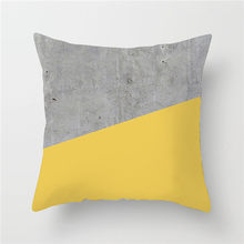 Fuwatacchi Geometric Painting Cushion Cover Yellow Gray Diamond Wave Print Pillowcase Sofa Chair Home Decor throw pillows Cover(China)