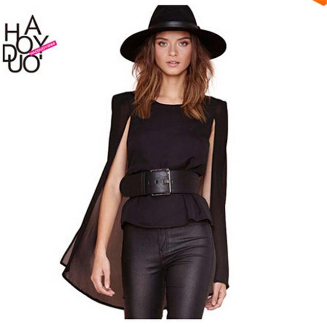 Blusas femininas 2016 новинка тела женщины топы улица мода леди шифон топы блузка длинные черные блузки ну вечеринку одежда