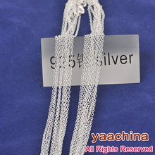 "Free shipping 30""925 sterling  necklace silver925 jewelry ""0"" chain 925 sterling silver chian necklace 925 silve(China (Mainland))"