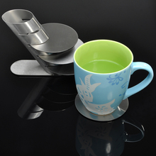 4Pieces/Set Spinning Drinks Coasters / Stainless Steel Metal Coaster Cup Mug Pads Tableware Pad Placemat Cup Bowl Insulation Mat(China (Mainland))
