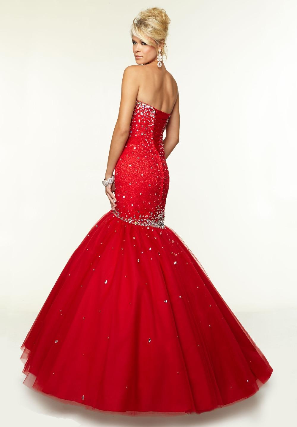 Red Sweetheart Neckline Prom Dress - Ocodea.com
