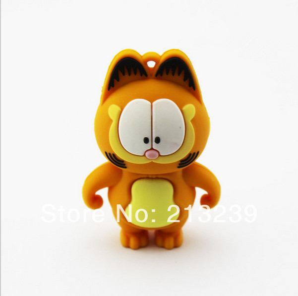 10pcs/lot New Cartoon Orange Garfield model usb 2.0 memory flash stick pendrive Genuine 4gb/8gb/16gb/32gb Freeshipping<br><br>Aliexpress