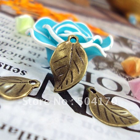 500pcs/lot Wholesale Zakka 18*11mm Leaf Vintage Jewelry Spacers Antique Brass Personality Finding Free Shipping CXY063
