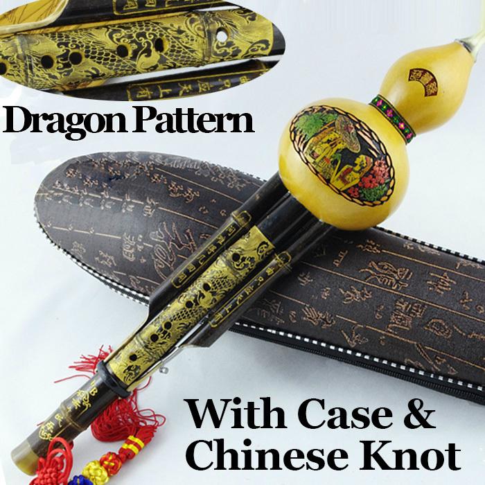 Chinese Bamboo Cucurbit Flute Traditional Gourd Fl...