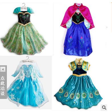 2016 Retail White Snow Of Queen Ice Princess Sofia Anna Elsa Dress Kids Party Girls Costume,Children's Clothing Girl Dress(China (Mainland))
