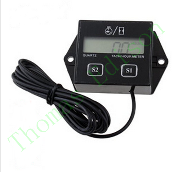 0.001w 3v A digital display device for motorcycle speed timer motorboat engine electronic tachometer hour meter(China (Mainland))
