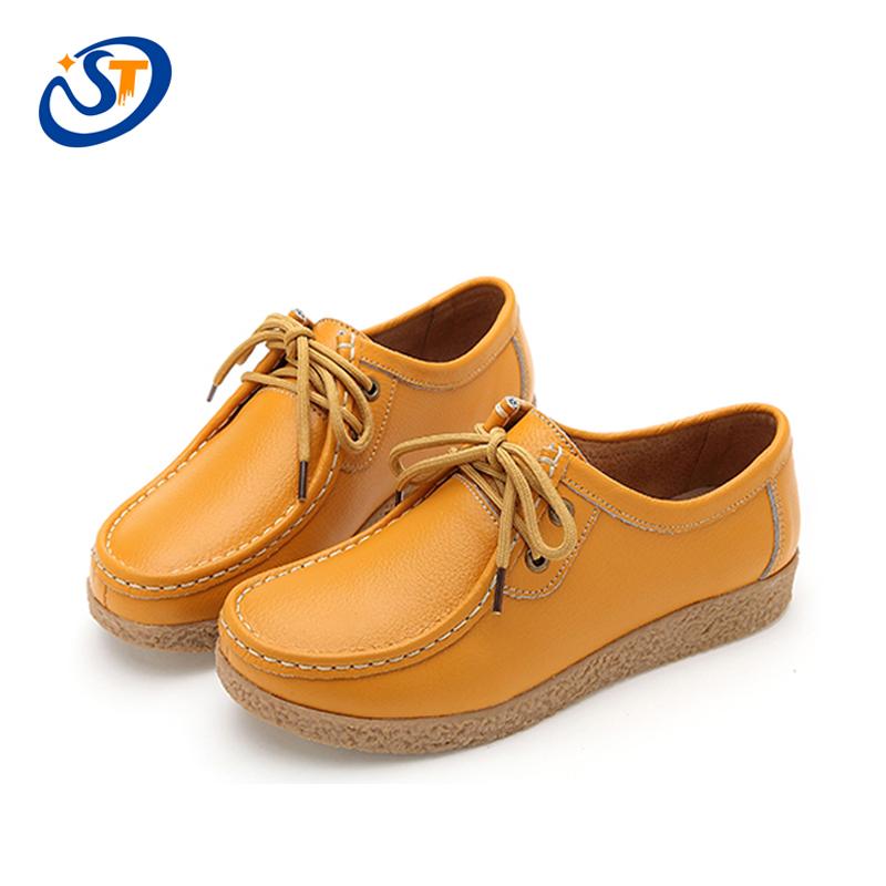 new womens flats shoes 2016 leather platform shoes