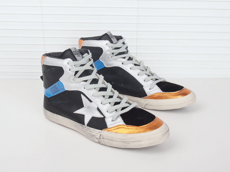 New 2015 Italy Golden Goose GGDB Deluxe Brand Superstar Glitter Sneakers Genuine Leather Lace Up High top Man Women Shoes Scarpe<br><br>Aliexpress