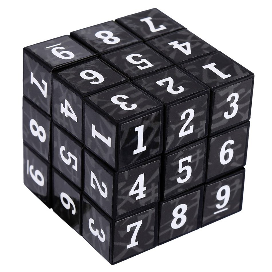 New 3 x 3 x 3 Small Arabic Numbers Brain Teaser Magic IQ Cube Puzzle Toy Children Educational Toys Professional Racing Skewb(China (Mainland))