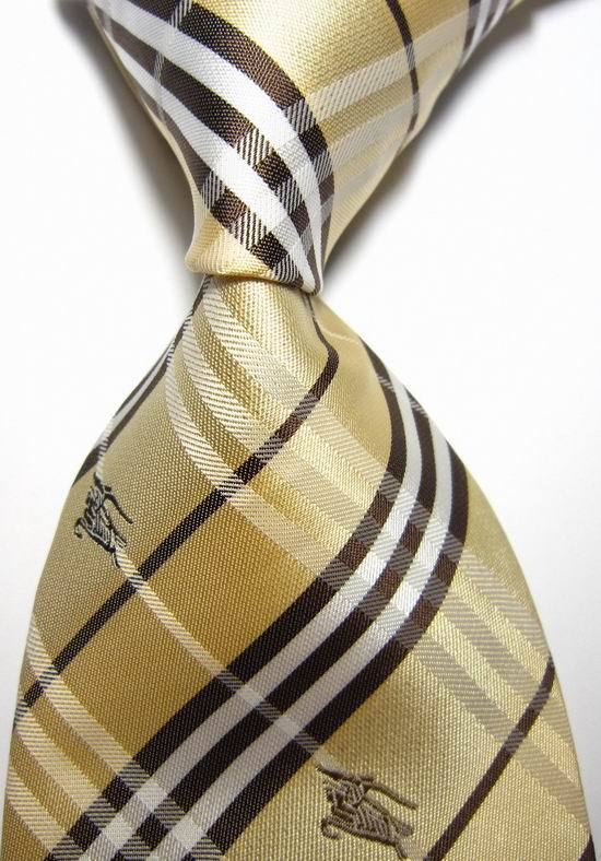 New Classic Plaid Yellow White Brown Animal Jacquard Woven 100% Silk Neckties Fashion Formal Business Wedding Party Men Tie #29(China (Mainland))