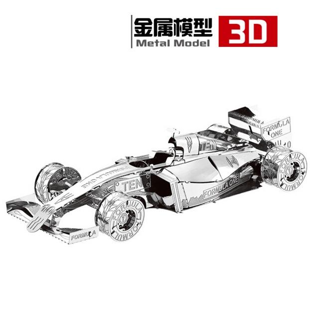 3D Metal Puzzles DIY Model Gift World's Vehicle The sports car F1 racing Metal car manual model Jigsaws toys Present Gift(China (Mainland))