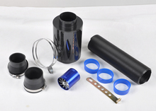 For Cold Air Intake Kit Carbon Fiber Filter Turbo Flexible Ducting Hose Pipe Fan [QPL426](China (Mainland))