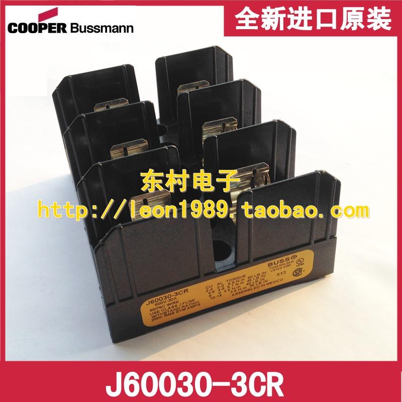 Фотография [SA]United States BUSSMANN fuse holder J60030-3CR J60030-3COR 30A 600V fuse holder