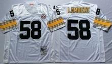 Pittsburgh Steelers mel blount Mike Webster Jack Lambert Joe Greene lynn swann Throwback for mens(China (Mainland))