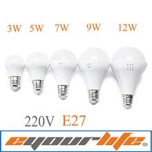 220V  LED Globe Light/Bulb E27 LED Bulb Energy Saving LED Bulb Light Lamp White Housing LED Bulb