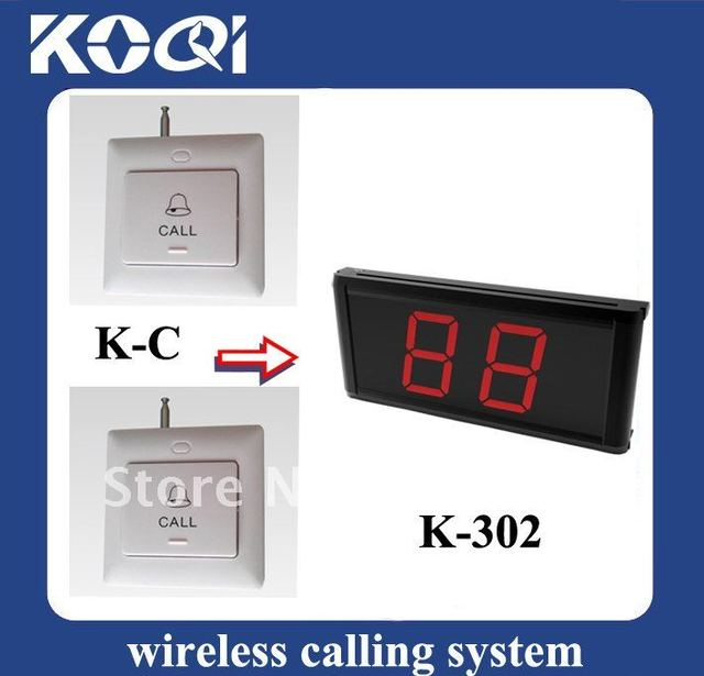 Wholesale wireless calling system/receiver , 1 Receiver +6 pcs call  button