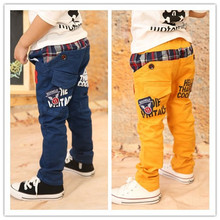 2015 New children pants baby boy's wearing korean styling fashion spring and autumn kid's causual trousers for 3-8 Years old(China (Mainland))