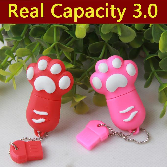 HOT Cartoon Cute 5Style Cat Claw 64GB 8GB 16GB 32GB USB Flash Drive 3 0 External