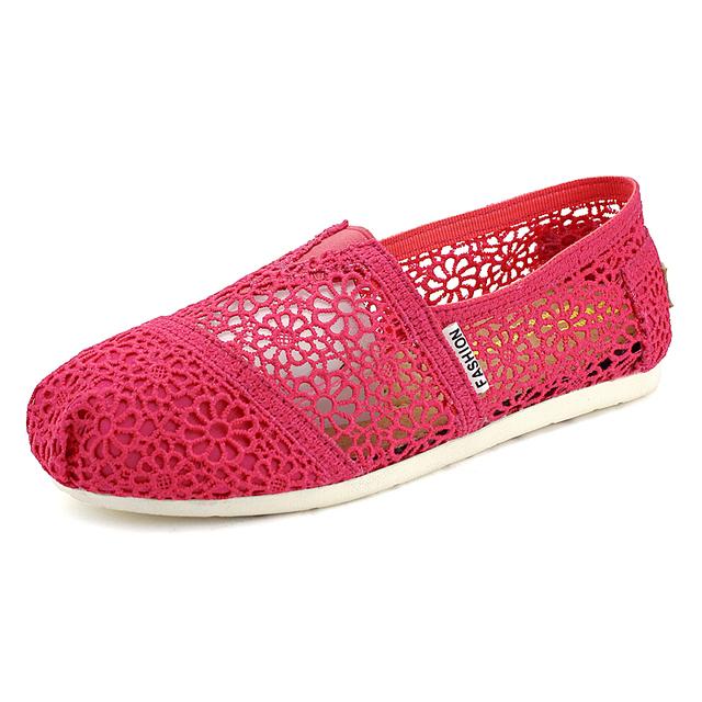 Вырезы кружева квартиры обувь женщин туфли-loafers / дышащей летней стиль женщина кружева туфли / туфли-ботинки женщин свободного покроя обувь лето размер : 35 - 40.501