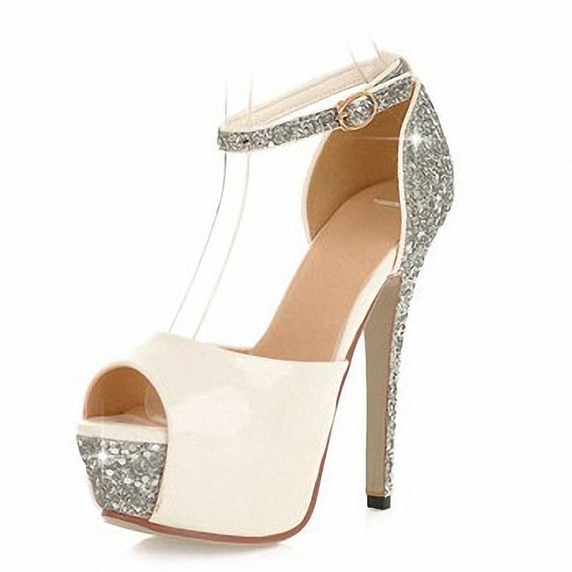 ENMAYER new 5 Colors Size 34-39 Sexy High Heels Platform Shoes Pumps Women's Dress Fashion Wedding shoes lady Pump Summer shoes