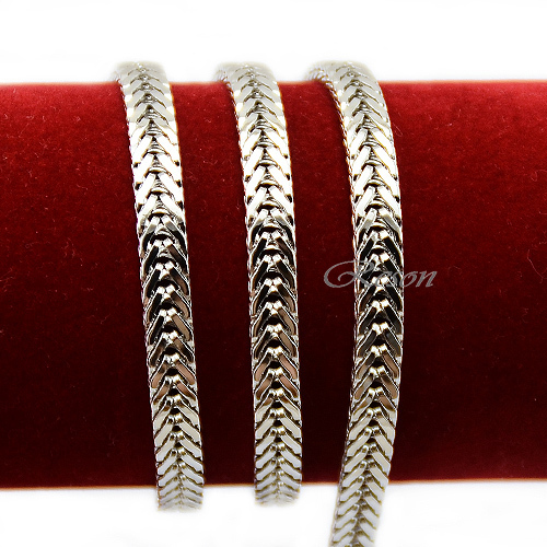 1pcs 6mm Width Unisex Man Women 18K Necklace Chains White Gold Filled Jewelry E467(China (Mainland))