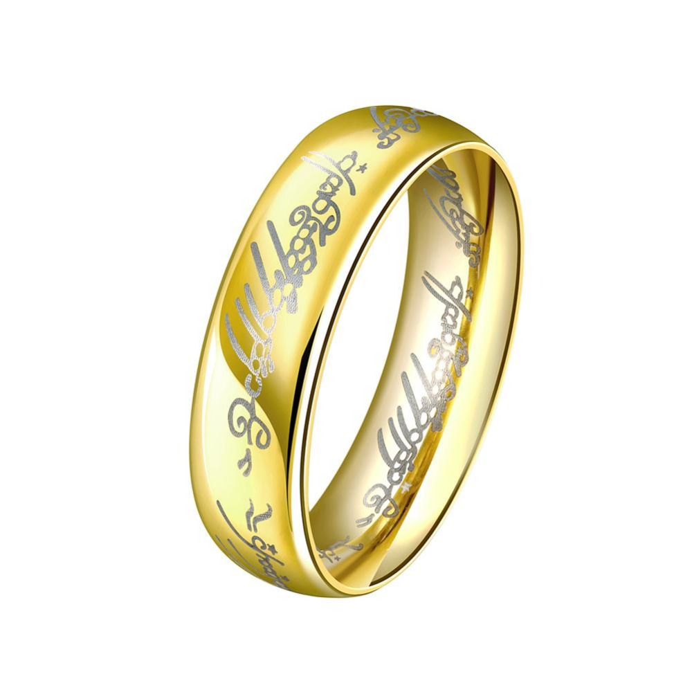 one ring of power gold the lord of couple rings women finger wedding band fashion jewelry accessory wholesale drop ship - The One Ring Wedding Band