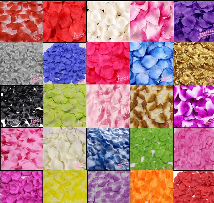 wedding rose petals party supplies confetti table decorations wedding accessories1000pc/lot free shipping(China (Mainland))