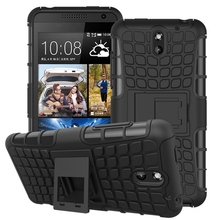 610 Cases Luxury Armor Heavy Duty Cell Phone Cover Etui PC Silicon Wheels Phone Skin For HTC Desire 610 610t Stand Horld Couqe(China (Mainland))