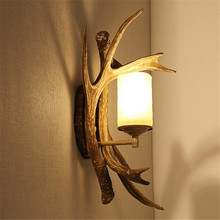 Buy American country Personality type retro bedroom lamp bedside lamp wall lamp double Mediterranean creative antlers ZA for $115.00 in AliExpress store