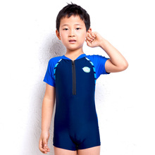 (1pcs/lot)Summer New Fashion Acrylic Nylon One Piece Boys Swimwear Children Rash Guards Beach Surfing Clothes Swimsuit(China (Mainland))