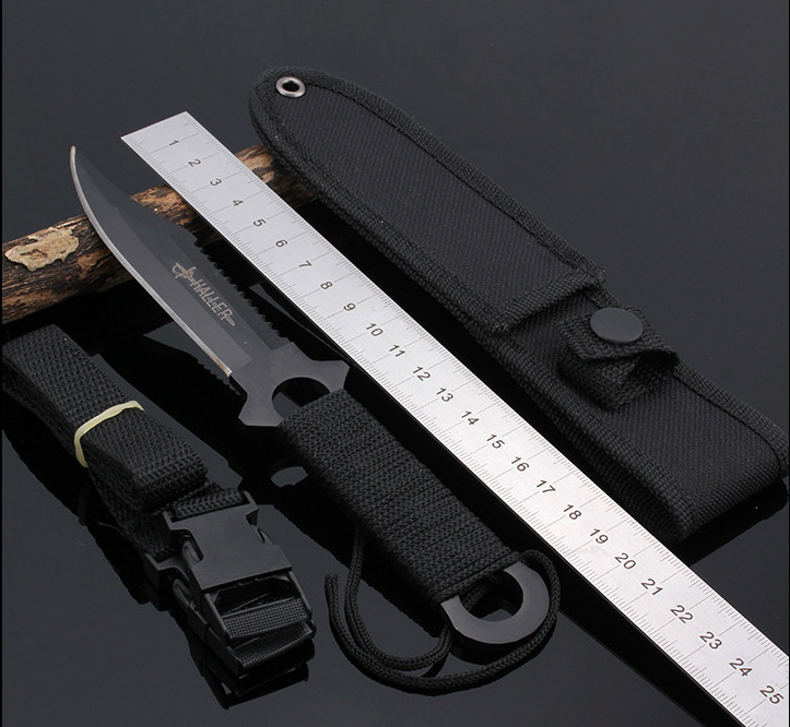 Haller Leggings/Paratroopers Knife Stainless Steel Diving Straight knife Outdoor Survival Camping Pocket Knife Tactical Knife<br><br>Aliexpress