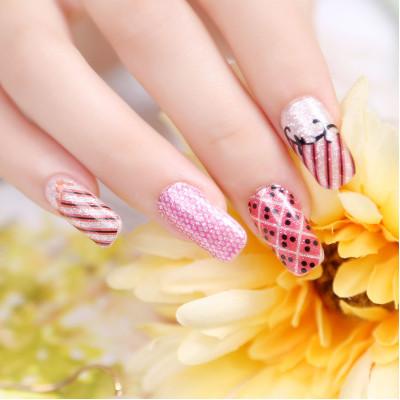 new fashion fresh color beauty stylish french design nails art decorations DIY manicure materials nail strip(China (Mainland))