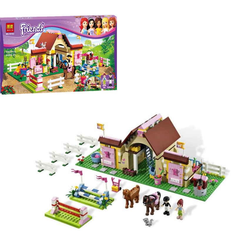 New Bela Friends 10163 Heartlake Stables Girls Mia's Farm Building Blocks 400pcs/set Bricks toys Compatible with legoed(China (Mainland))