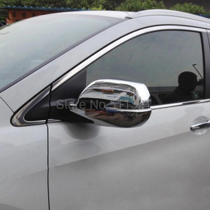 Car Styling Fit Honda CRV CR-V 2012 2013 2014 ABS Chrome Rearview Mirror Covers Side Door Back Mirrors Trims Molding - Decoration Home store