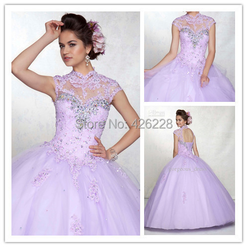 Vestidos De Gala Rainbow Quinceanera Dresses 2015 Ball Gowns 15 Sweet 16 - anjing* wedding store