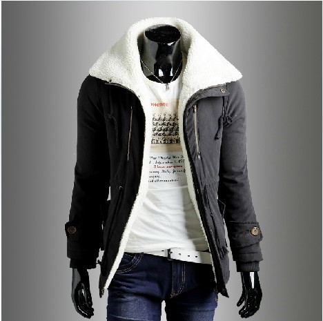2015 Winter new arrival men's clothing Korean edition slim leisure keep warm men high quality Parkas hooded coat free shipping
