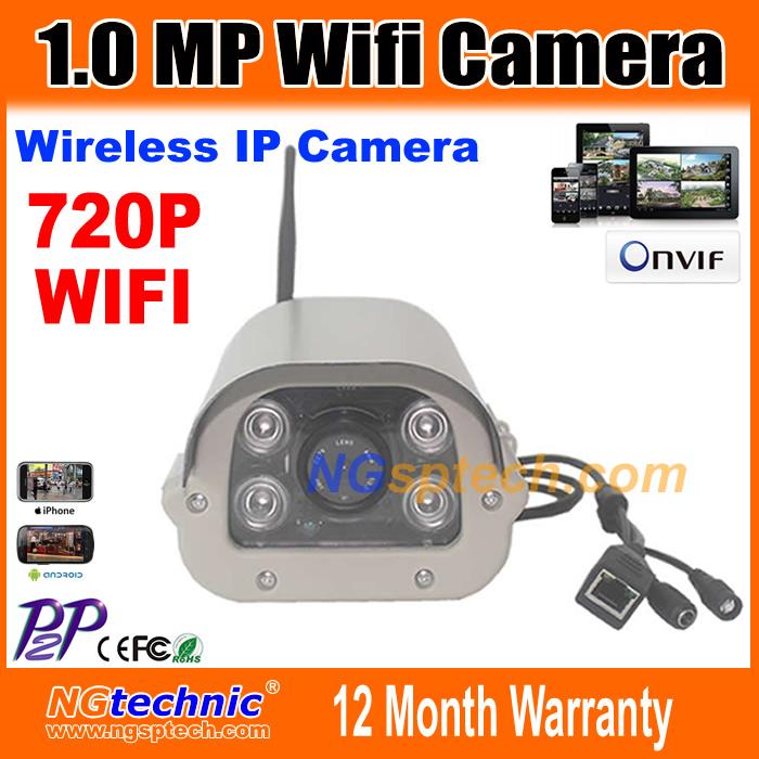 Фотография 1.0MP 720P Wireless IP Camera Outdoor Waterproof With Reset Button HD Wifi Bullet ip camera 1280x720 P2P Onvif Motion Detection