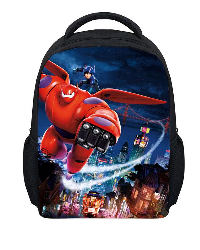 Hot Sale Small Cartoon Big Hero Bag Boys School Bags Cute Children Schoolbag Baby Kindergarten Shoulder Mochila School Kids free(China (Mainland))