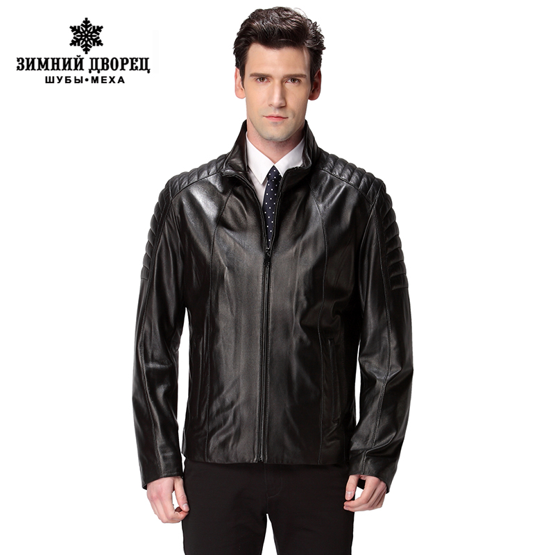 2013 new fashion men s genuine sheepskin leather jacket