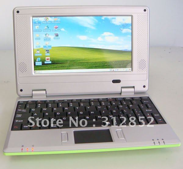 Cheap 7inch VIA 8650 android 2.2 2GB UMPC EPC tablet pc notebook mini laptop FREE SHIPPING(China (Mainland))