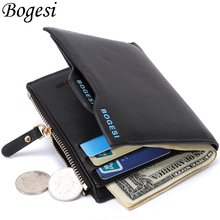 Buy Bogesi Short Male Card Holder Designer Famous Brand Small Leather Men Wallet Man Coin Pocket Purse Carteras Money Portfel Walet for $3.98 in AliExpress store