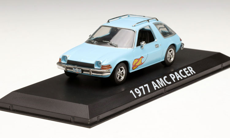 Rare Model GreenLight 1:43 1977 AMC Pacer blue alloy car models Favorites Model(China (Mainland))